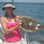 FLOUNDER Flounder are another great tasting fish found in the lower Bay. From early May to late October, fish ranging from 1 to 15 pounds are in season. Most of the big flounder that are caught in the Chesapeake Bay come from the structures of the Chesapeake Bay Bridge Tunnel.