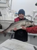 Great striped bass charter fishing on the Virginia charter boat smokin gun